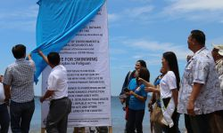 UNVEILING OF PUBLIC ADVISORY FOR AGUAWAN BEACH