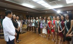 MS. PHILIPPINES EARTH CANDIDATES VISIT DENR
